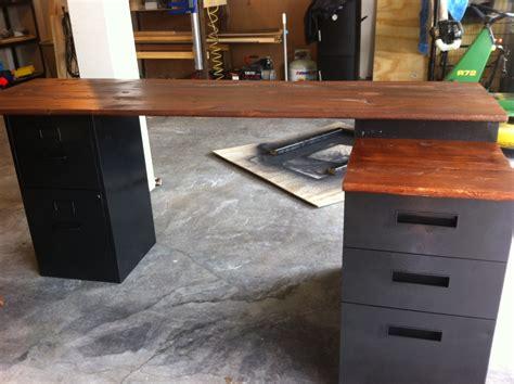 Diy L Shaped Desk With Filing Cabinet Manitoba Design