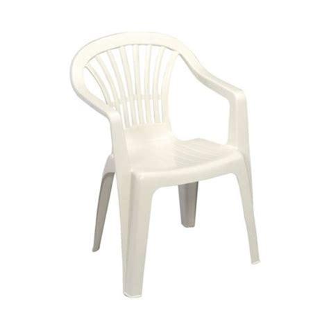 chaise empilable pas cher progarden fauteuil de jardin altea blanc pas cher