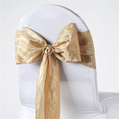 150 x crinkled taffeta chair sashes ties bows wedding