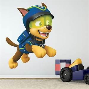 Paw Patrol Wandsticker. vinyl f r kinder paw patrol chase in aktion ...