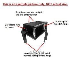 mm deep wall mount network cabinet rack glass door withlock black