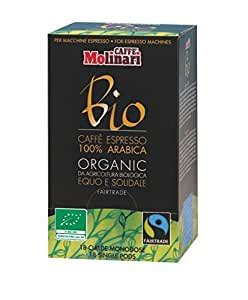 But coffee pods need to be dropped into a special coffee pot that drips very hot water on the pod, providing you with a cup of freshly brewed coffee in about thirty seconds. Caffe Molinari Organic Bio Espresso Pods (Pack of 18 ...