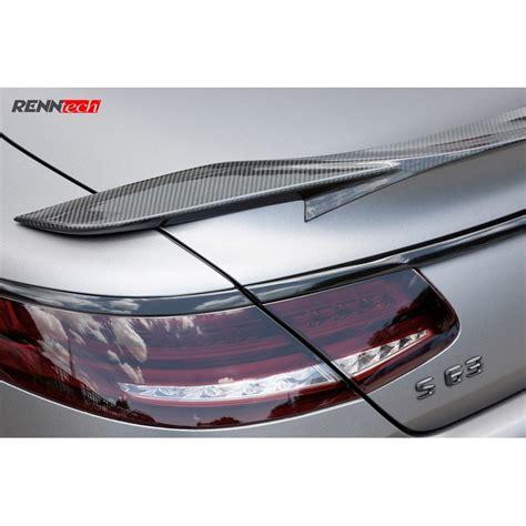 renntech carbon fiber deck lid spoiler   class