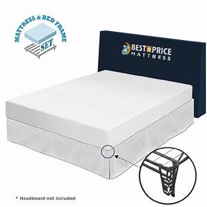 queen 8quot memory foam mattress bed frame set queen no With are foam mattresses better than spring