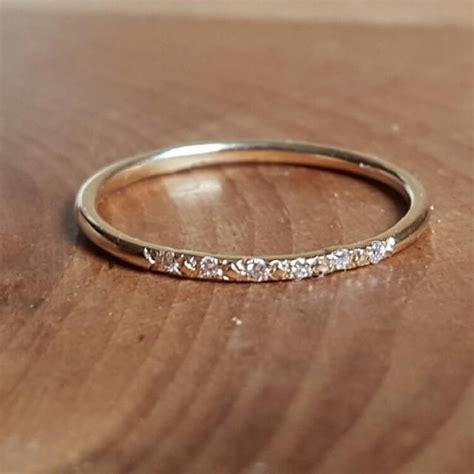14k gold pave ring 14k stacking rings 14k gold