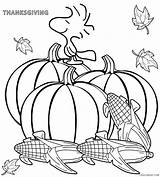 Thanksgiving Coloring Pages Happy Printable sketch template