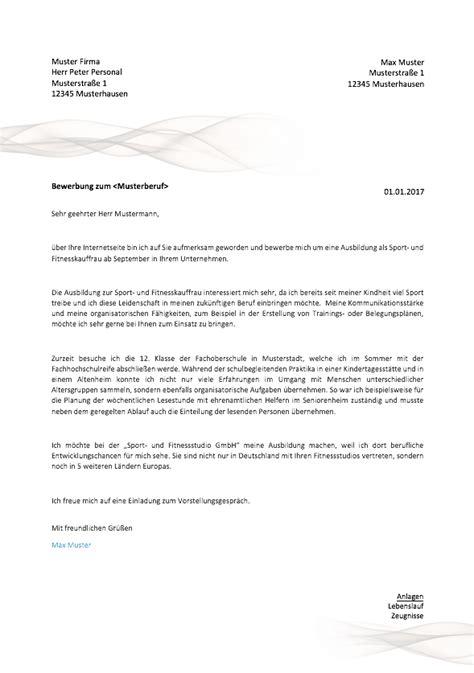 Bewerbung Nach Ausbildung Muster by 11 Bewerbungsschreiben Muster 2017 Ausbildung Friend
