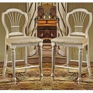 Hillsdale, Wilshire, White, 24, Inch, Counter, Stool, Set, Of, 2