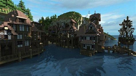 Minecraft Boat Town by Coastal Town Asera Build Team Minecraft Project