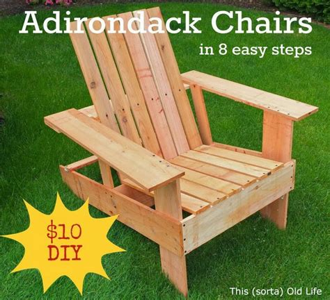how to build your own adirondack chairs diy
