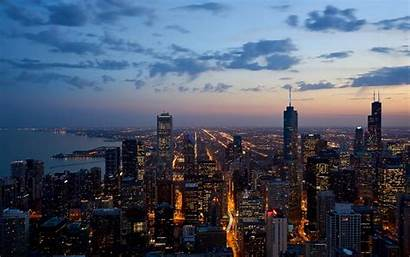 Skyline Chicago 4k Wallpapers Cityscape Background Desktop