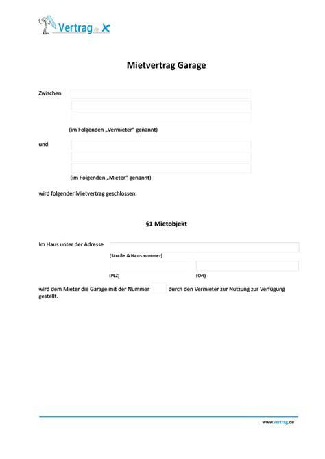 Mietvertrag Garage › Mietvertrag Muster