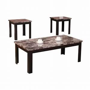 Andover mills cecil marble top 3 piece coffee table set for 3 piece marble coffee table set