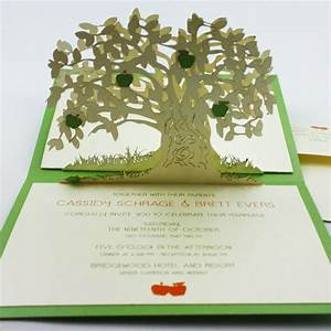 5 amazing pop up wedding invitations onewed With wedding invitation linked rings pop up card template