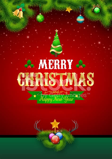 A christmas card is one of the happiest gifts of the season! Merry Christmas and Happy New Year Stock Vector ...