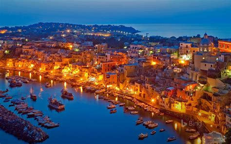 Procida Island In The Gulf Of Naples Italy Places In