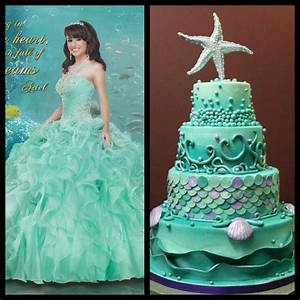Ariel Dress + Aqua Marine Cake = Perfect