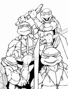 Teenage Mutant Ninja Turtles Coloriing Pages