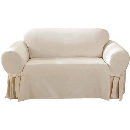 Cotton Loveseat Slipcover by Sure Fit Cotton Duck Loveseat Slipcover Walmart