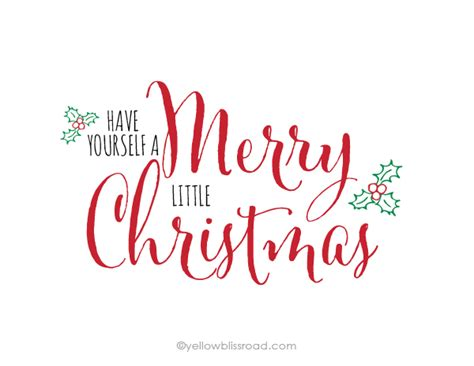 free printable have yourself a merry little christmas yellow bliss road