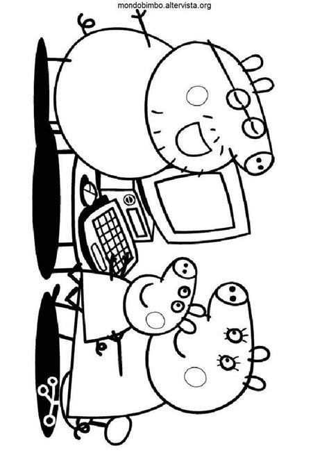 disegni famiglia pig da colorare mondo bimbo