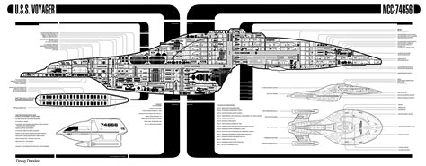 Starship Voyager Deck Plans by Voyager Cutway Drex Files Imgderp