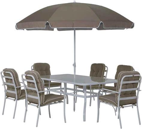 Leclerc  Salon de jardin pour 6 personnes + parasol u00e0 199