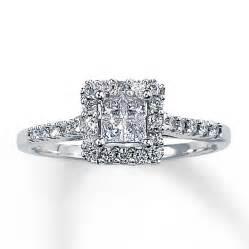 2 ct princess cut engagement rings engagement ring 1 2 ct tw princess cut 14k white gold