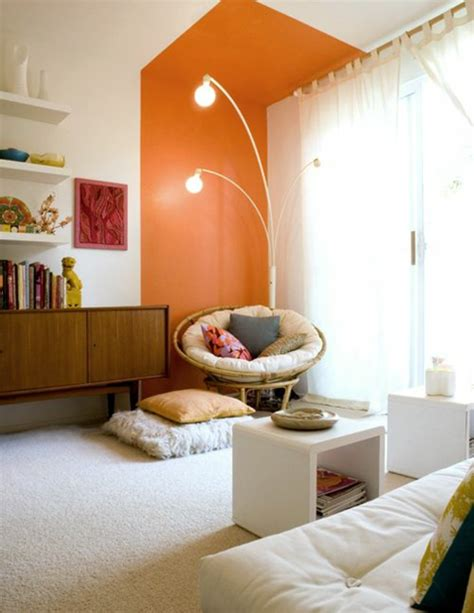 Wandfarbe Orange Töne by W 228 Nde Streichen Farbideen F 252 R Orange Wandgestaltung