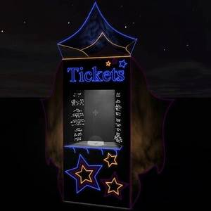 admission ticket booth 3d model