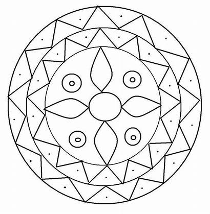 Rangoli Coloring Pages Printable Colouring Toddlers Patterns