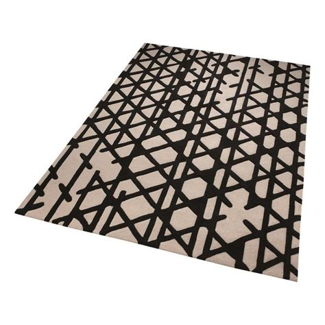 tapis et blanc tapis esprit noir et blanc artisan pop moderne 120x180