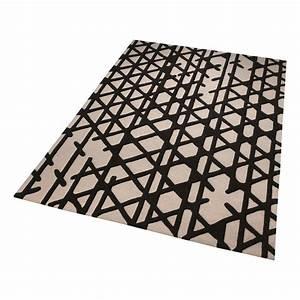 tapis esprit noir et blanc artisan pop moderne 120x180 With tapis blanc noir