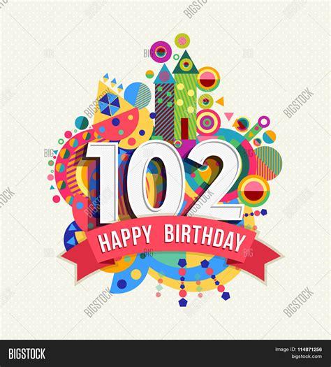happy birthday  year greeting vector photo bigstock