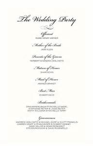 diy funeral programs wedding ceremony order of service khafre