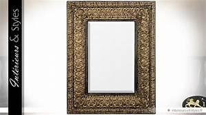 Miroir Doré Rectangulaire : miroir mural rectangulaire rendu bronze dor oriental 140 cm int rieurs styles ~ Teatrodelosmanantiales.com Idées de Décoration