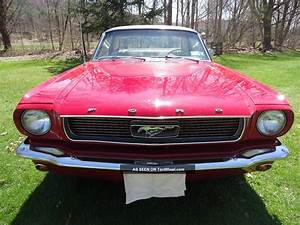 Cherry Red 1966 Ford Mustang C Code Coupe 289 V8 C4 Automatic Rally Wheels