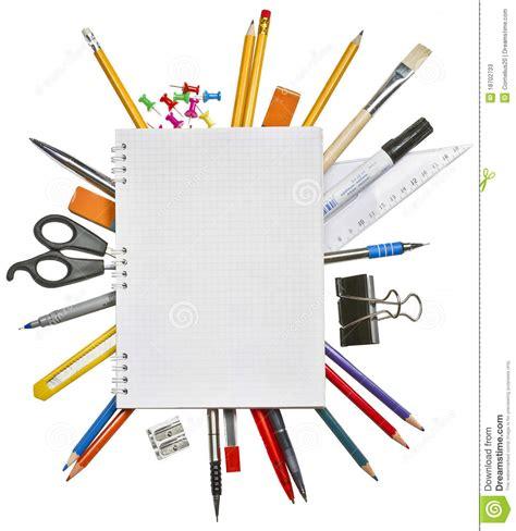 cahier et fournitures de bureau photos stock image 18702733