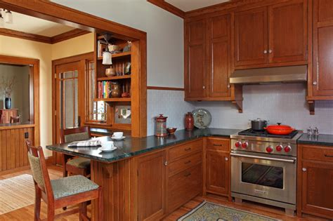 pictures of kitchens with cabinets st paul bungalow remodel craftsman kitchen 9118