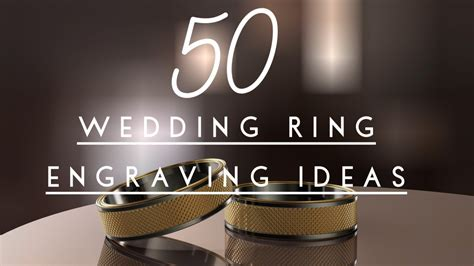 50 unique romantic wedding ring engraving ideas