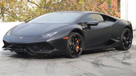 New Car 2018 2017 Satin Matte Black Huracan Lamborghini