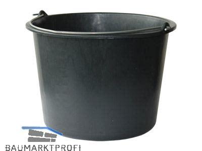 baueimer 12 l baueimer 12 l schwarz mit nasenb 252 gel und literskala baumarktprofi