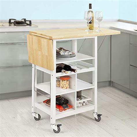 plan de travail rabattable cuisine sobuy fkw44 wn desserte sur roulettes chariot de cuisine