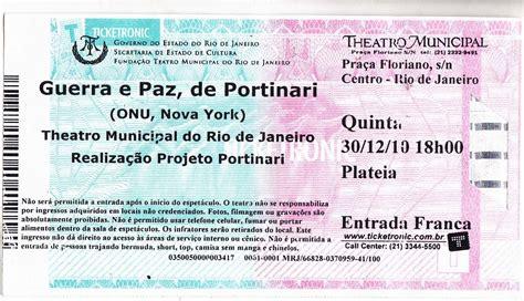 Ingresso Teatro Ingresso Do Teatro Municipal R J Que Aconteceu Em 30 12