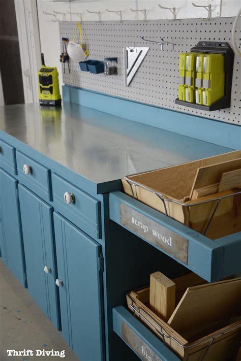 upcycled workstation  diy scrap wood storage