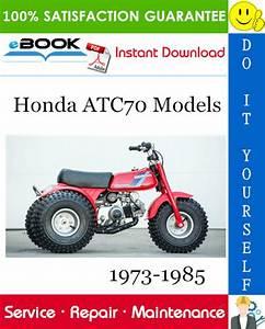 Best  U2606 U2606 Honda Atc70 Models Atv Service Repair Manual 1973