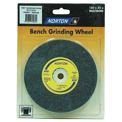 bench grinder wheels norton 150 x 25mm multi bore medium bench wheel