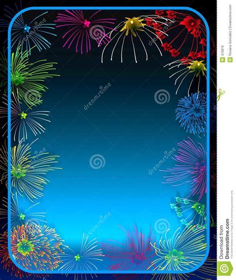 clipart fuochi d artificio bordo dei fuochi d artificio illustrazione di stock
