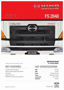 Hino 700 Series Fs 2848 Spec Sheet By Justin Edwards