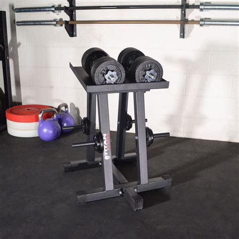 titan fitness dumbbell column stand  plate tree power block